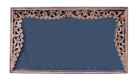 Vintage picture frame, Blackboard, wood plated. photo