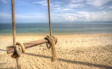 koh: Swing On The beach Background. Koh Samui Island. Thailand