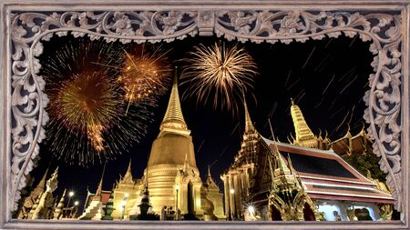 Father celebrate in Wat Phra Kaew, Bangkok - Thailand. photo