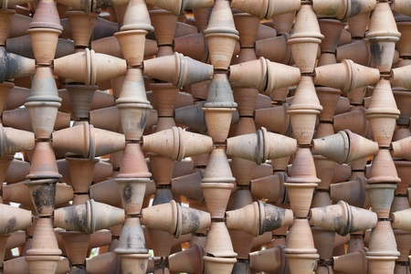 clay pot: Backgrpund from an earthenware, ogange colour pot  Stock Photo