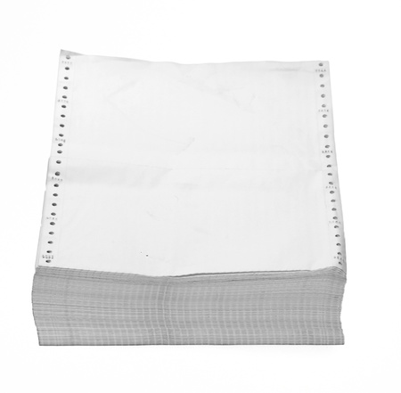 paper after use for recycle for use in office inside, have space on top for put your text, your job or atr work. This picture include crip part, for easy to use. photo