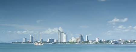 Pattaya beach with a very slow shuter speed photo by use 10 stop ND filter.  photo