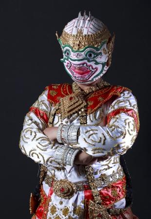 hanuman: Portrait of hanuman warrior, the god of monkey in ramayana story from hinduism.