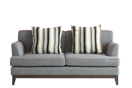 muebles de madera: Sofá puso sobre fondo blanco aisladas, incluida la parte de recorte