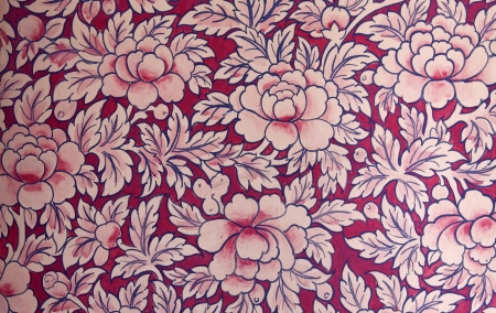 Vintage beautiful color flower pattern on pink background photo
