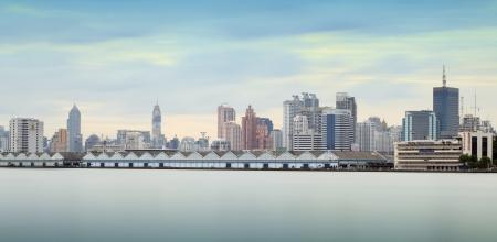 bangkok city: Bangkok city town and the water park, Thailand