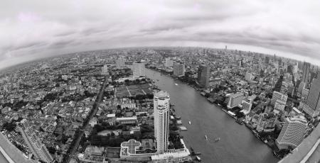 Bangkok city town and the water park, Thailand  photo