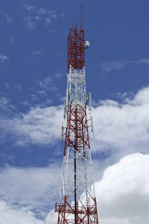 aisa: Antenna of Communication Building and blue sky