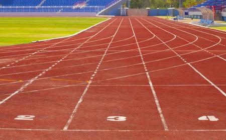 athletics track: No 2 3 4 Track in stadium