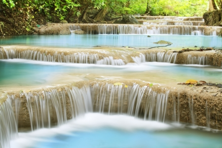 kamin: Second level of Erawan Waterfall in Kanchanaburi Province, Thailand
