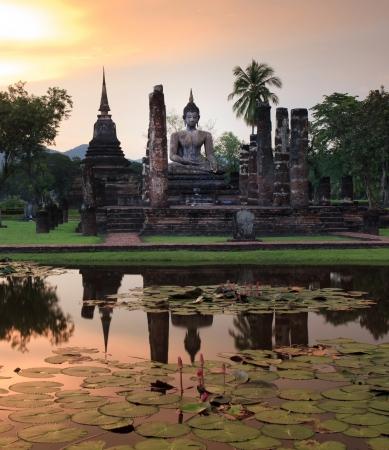 SUKHOTHAI,THAILAND- SEPTEMBER 9 Main buddha Statue in Sukhothai historical park  September9,2011 in Sukhothai,Thailand