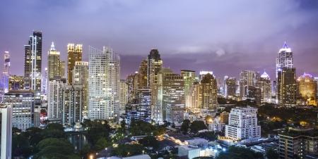 bangkok city: Bangkok night close-up to the main building, Thailand