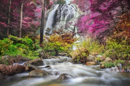 Klonglan Waterfall in Kampangpet Province, Thailand Stock Photo - 15609265