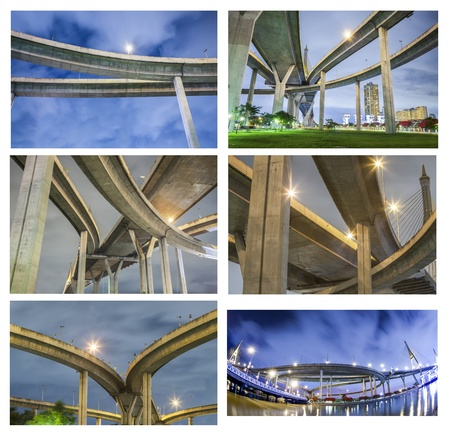 expressway: Highway in night urban  Stock Photo