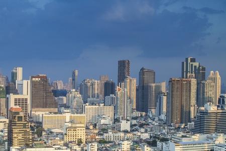 bangkok city: Bangkok city town and the blu sky, Thailand
