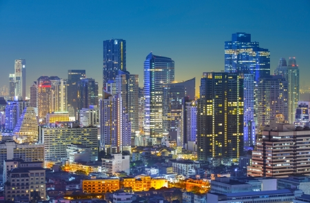 Bangkok city night view, Thailand photo