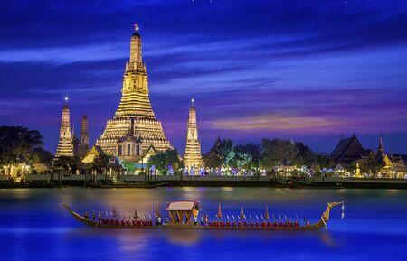phraya: Wat arun under new year selebration time, Thailand Stock Photo
