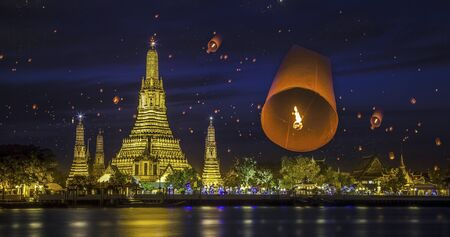 Wat arun under new year selebration time, Thailand  Stock Photo - 17379936