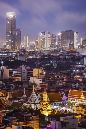 king of thailand: Temple in the Bangkok city. Stock Photo