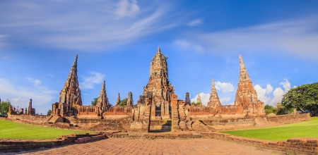 Chaiwatthanaram temple at Ayutthaya in Thailand and most famous for tourist photo