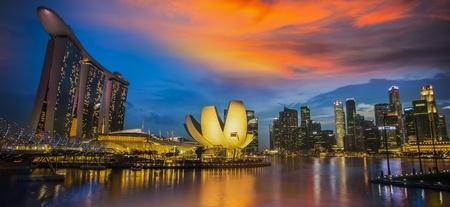 jachthaven: SINGAPORE - 10 maart Wereld
