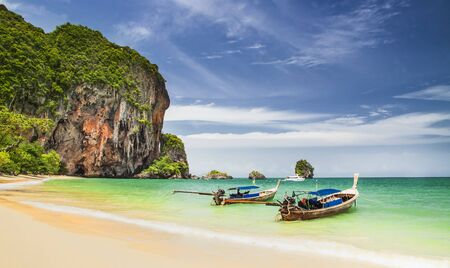railay: Railay beach in Krabi Thailand Stock Photo