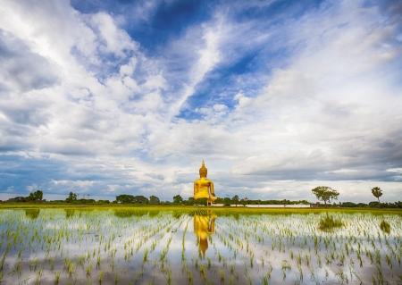 moine: Un grand Bouddha en Tha�lande, province de Ang Thong Banque d'images