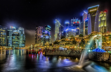 marina water: SINGAPORE - MARCH 9  World