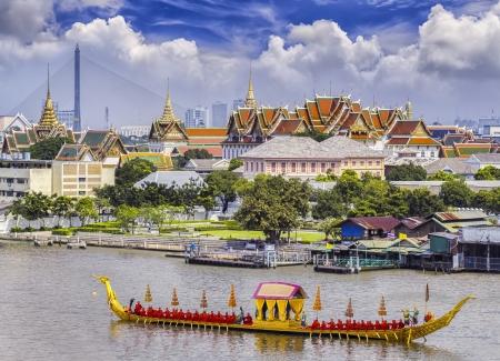 bangkok landmark: Landscape of Thai Editorial