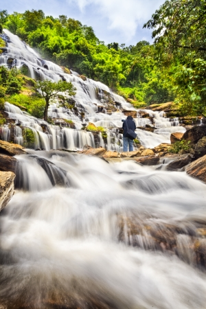 spectacular: Mae Ya waterfall in Doi Inthanon national park, Chiang Mai, Thailand