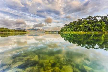 Khao sok park, mountain and lake in Suratthani, Thailand. Stock Photo - 21970012