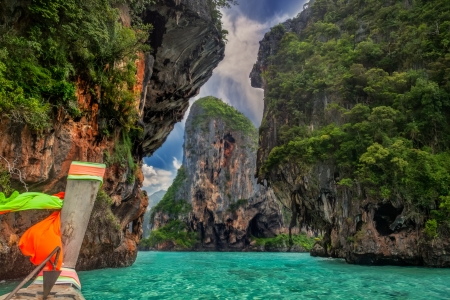 Railay sea beach and park in Krabi Thailand photo