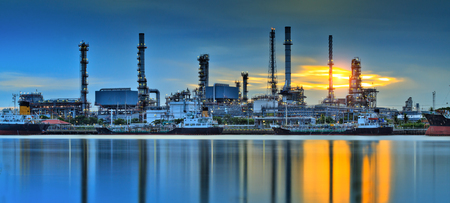 Oil refinery factory fplant or chamical and power energy industrial. photo