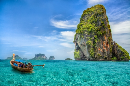Railay beach in Krabi Thailand Stock Photo