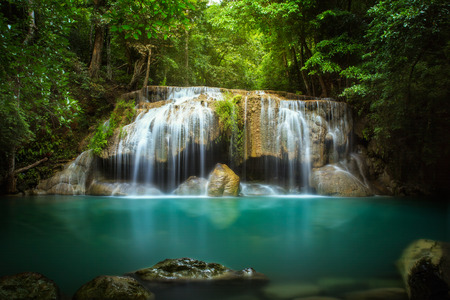 kamin: Level two of Erawan Waterfall in Kanchanaburi Province, Thailand