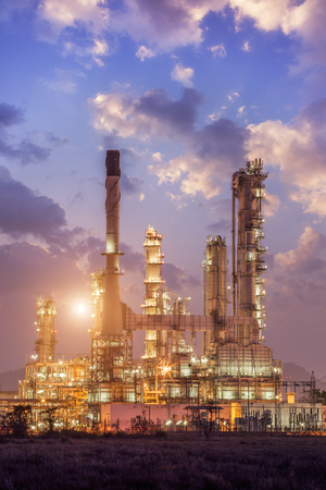 Oil refinery factory plant or chamical and power energy industrial  photo