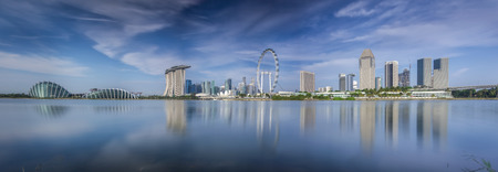 Landscape of Singapore city in day morning time. Editorial
