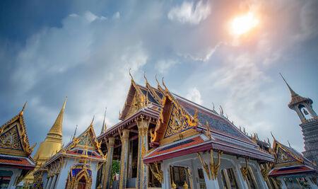 thai believe: Wat Phra Kaew, Temple of the Emerald Buddha, Bangkok, Thailand.
