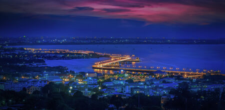 chonburi: Seaview on chonburi town, Thailand, with cloud and twilight.