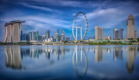 Landscape of the Singapore city financial district