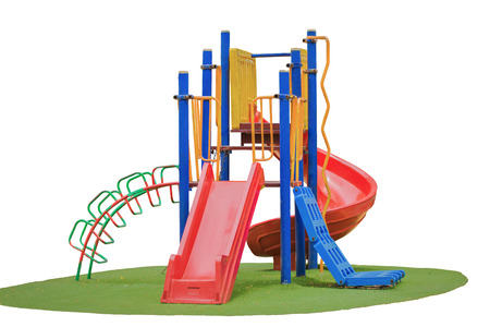 Colorful playground with isolated background photo