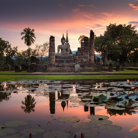 sukhothai: Sukhothai historical park, the old town of Thailand in 800 year ago