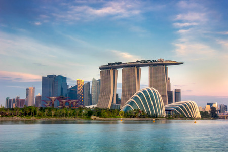 marina: Landscape of the Singapore financial district