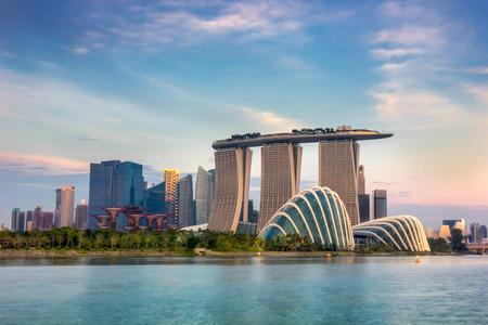 Landschaft des Singapur-Finanzbezirk Editorial