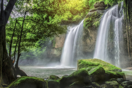 pattaya thailand: Cave in Heo Suwat Waterfall in Khao Yai National Park in Thailand Stock Photo