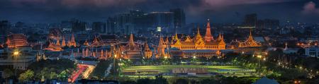 grand palace: Grand palace at twilight in Bangkok, Thailand