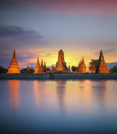 Old Temple wat Chaiwatthanaram of Ayutthaya Province(Ayutthaya Historical Park) in Thailand