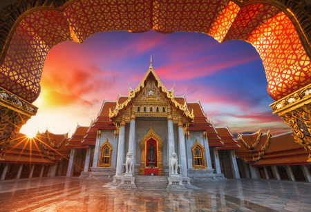 Die Marmor-Tempel Wat Benchamabopitr Dusitvanaram Bangkok Thailand Standard-Bild - 41130269