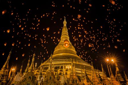 yeepeng: Golden Pagoda in Burma, Shwedagon temple in Yangon, Myanmar, lantern, yeepeng, yee peng, ,