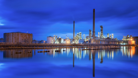 industrial industry: Oil refinery industry, oil tank and camical industrial, plant and factory concept